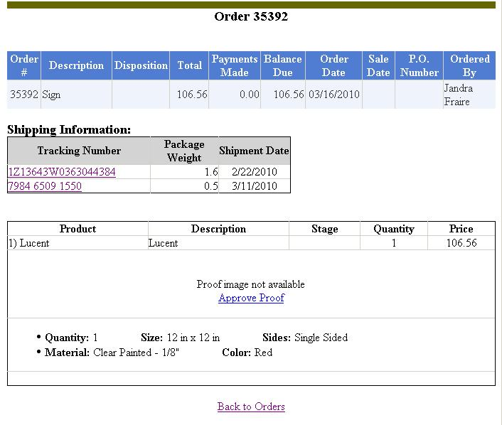 View Shipping Information In Webview  Control